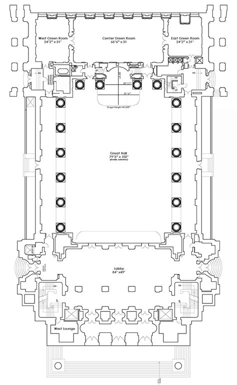 auditorium floor plans floor plans andrew w mellon auditorium