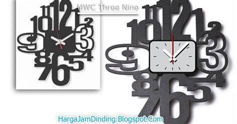 Jam Dinding Traktor Design Modern Dan Minimalis jual jam dinding modern three nine yang unik mwc three nine harga jam dinding