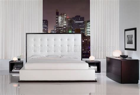 ludlow white leather bedroom set  modloft