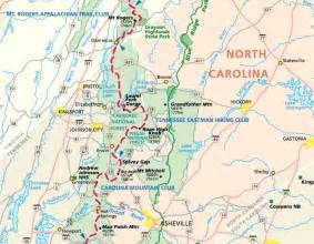 carolina appalachian trail map hiking in boone high country the high country