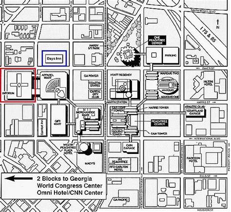 street map of downtown atlanta georgia 1997 atlanta linux showcase directions