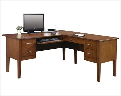 winners only desk and return koncept in brown cherry wo gk162r