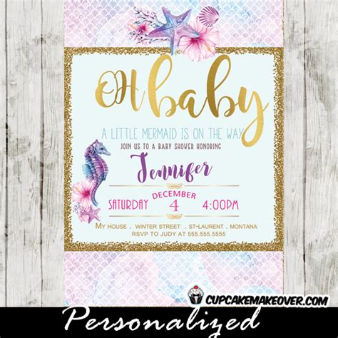 Seahorse Baby Shower Decorations by The Sea Baby Shower Invitations Seahorse