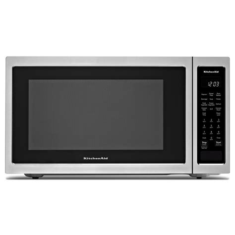 kitchenaid ykmhs120es counter top microwaves sharp 1 5 cu ft over the counter microwave in stainless