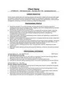 Sales Resume Objective Statement Examples Mortgage Sales Resume Objective
