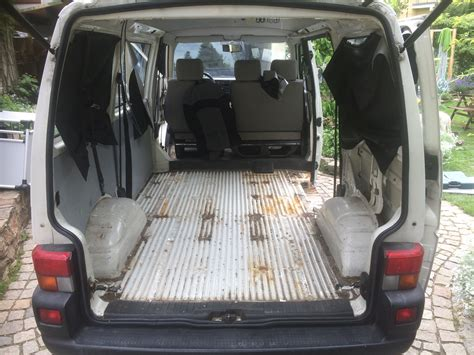 Vw T4 Seat Upholstery by Vw T4 Project Interior Construction Removal Of All
