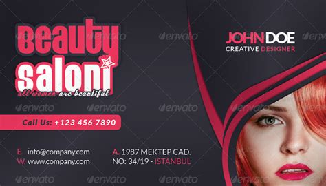 Beauty Salon Business Card Face Timeline by grafilker