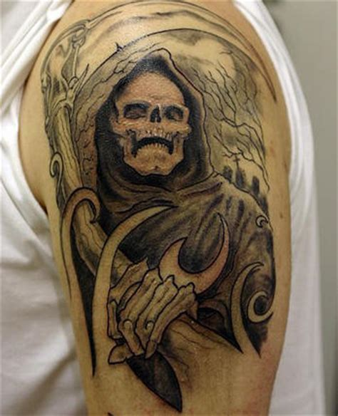 grim reaper tattoo meaning tattoos grim reaper tattoos themes