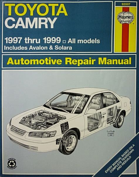 online auto repair manual 1999 toyota avalon transmission control toyota camry automotive repair manual models covered html autos weblog