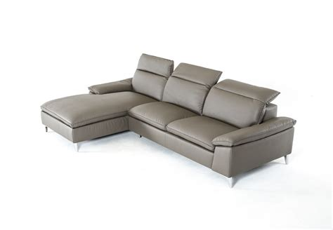 dark gray sectional divani casa dandelion modern dark grey leather sectional sofa