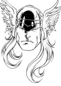 Thor picture of thor head coloring page