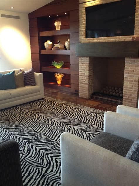 zebra rug in living room kenya zebra area rug contemporary living room orange county by hemphill s rugs carpets