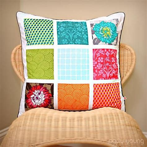 Patchwork Pillow - diy tutorial diy patchwork diy patchwork pillow