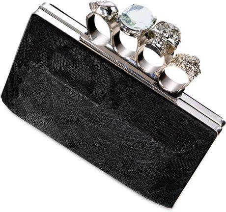 Sale Clutch Ck Croco material black knucklbuster clutch in black lyst