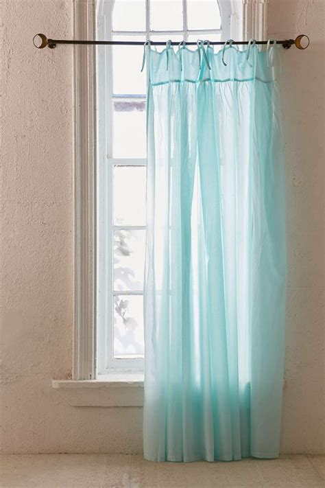seafoam curtains seafoam gathered voile curtain everything turquoise