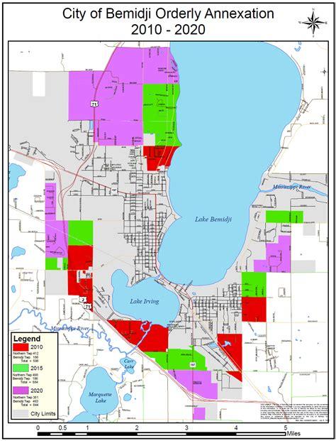 annexation of map bemidji bits
