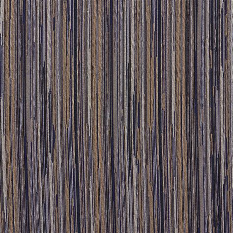 Upholstery Fabric Yardage Chart Navy Gold And Ivory Abstract Striped Contract Upholstery