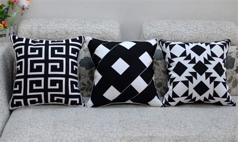 black and white bench cushion black and white fashion creative ikea sofa chair cushion