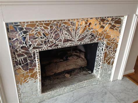 diy glass fireplace 25 best ideas about broken mirror on