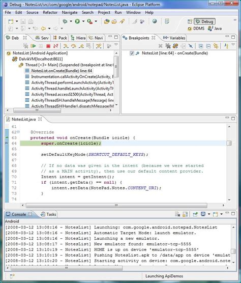 debugging app for android infinitezest debugging an android application