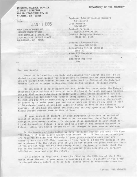 charity letter of determination best photos of non profit irs determination letter irs
