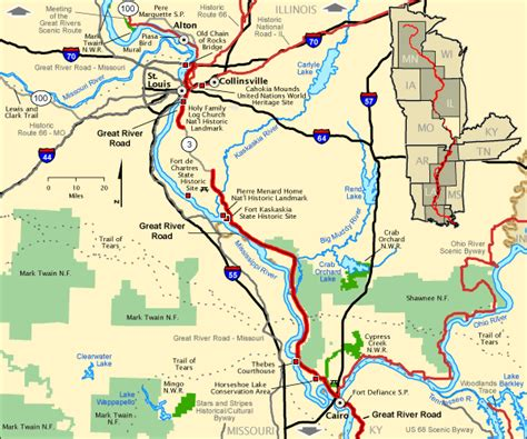louisiana byways map great river road great river road in illinois south