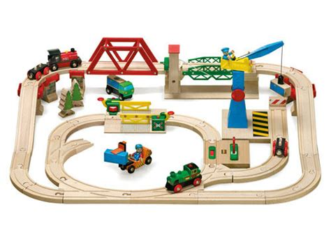 brio wooden train set brio tub freight yard set a fantastic wooden train set