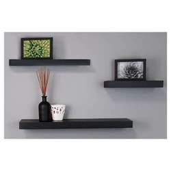 decorative black wall shelves maine decorative wall ledge shelf set of 3 black target