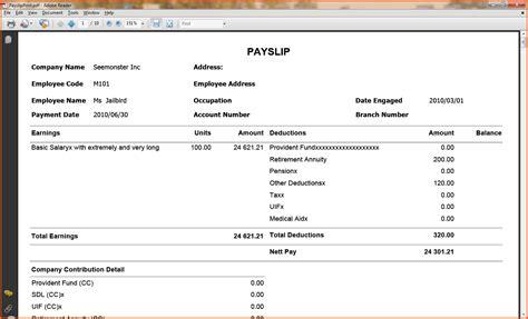doc 524675 payslip sles sle pay slip employee