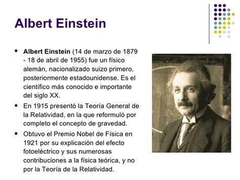 albert einstein biografia corta teor 237 a de la relatividad