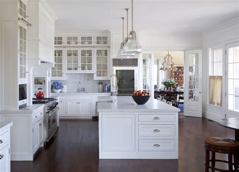 white coastal kitchen kitchen computer nook