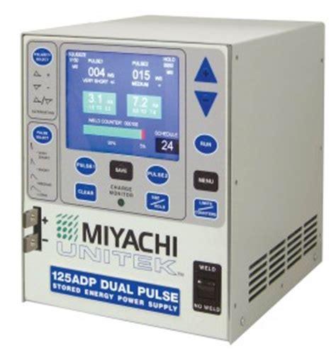 dual pulse capacitive discharge welder miyachi unitek announces model 125adp dual pulse capacitive discharge welder battery power
