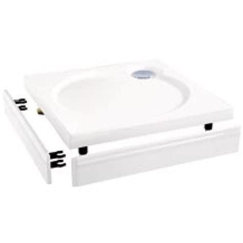 coram slimline square shower tray riser kit to suit 760mm