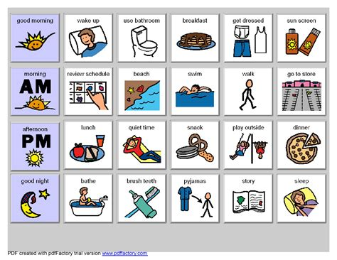 printable picture schedule autism search results for visual schedule autism calendar 2015