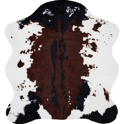 faux cow print rug icocopark zebra leopard giraffe tiger cow print rug faux cowhide tricolor cowhide rug 10 style 2
