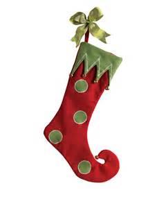 Shoe And Boot Storage Santa S Elf Red Christmas Stocking Treetopia