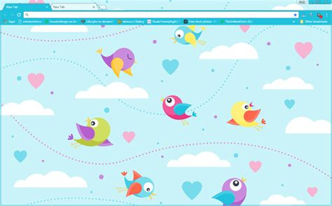 google chrome themes cute pink cute birds google chrome theme hindgrapha
