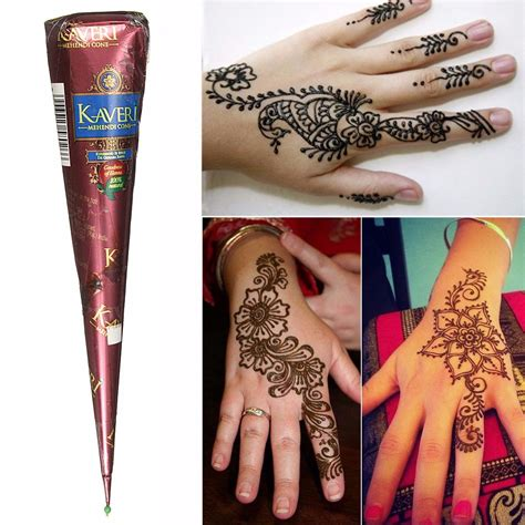 pcs natural herbal henna cones temporary tattoo body art  exquisite newchic