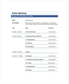 Sales Meeting Agenda Template by 12 Sales Meeting Agenda Templates Free Sle Exle