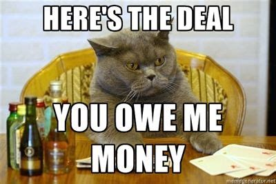 Pay Me My Money Meme - here s the deal you owe me money so true pinterest money meme random humor and humanity