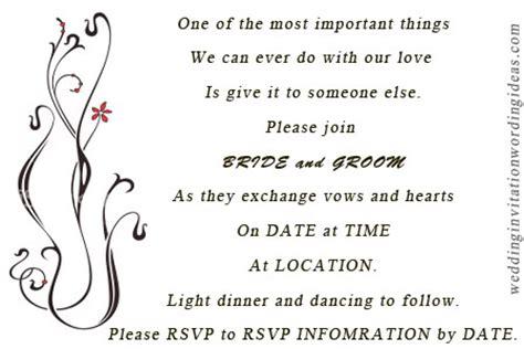 sle wedding invitation wording informal casual wedding invitation wordings