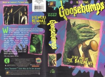 vhs r l stine goosebumps stay out of the basement