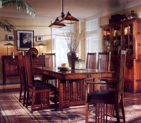 arts and crafts dining room image detail for mission style decorating arts and