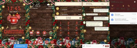 christmas themes samsung themes thursday here are some christmas theme packs for