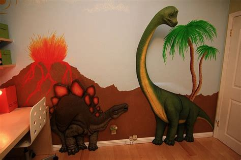 Dinosaurier Kinderzimmer Gestalten by Bedrooms With Dinosaur Themed Wall And Murals