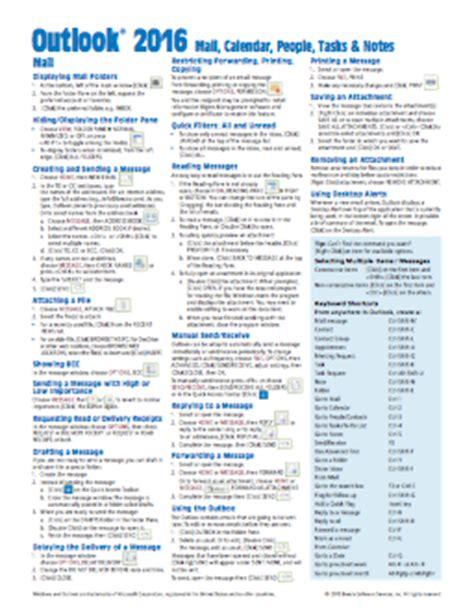 microsoft word 2016 quick guide, card, cheat sheet beezix