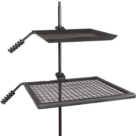pit ring with grill titan cfire adjustable swivel grill cooking grate