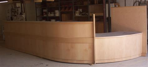 built in reception desk fitak custom woodworking inc napanee ontario kitchen