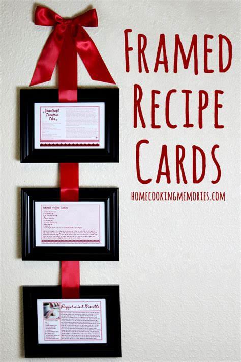 Homemade Gift Cards - homemade gift idea framed recipe cards home cooking memories