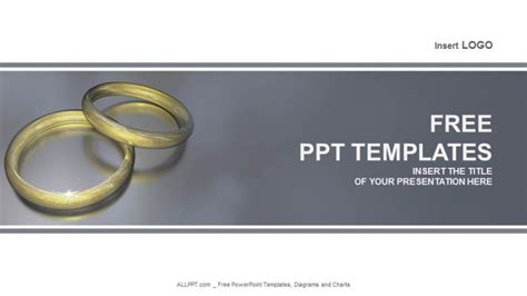 wedding ring templates free wedding ring recreation powerpoint templates